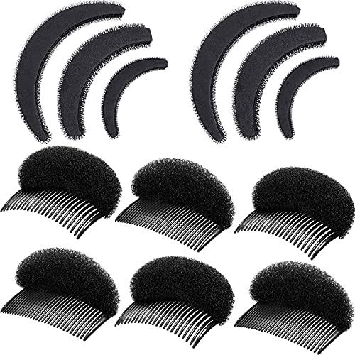 10 Pieces Bump Up Hair Accessories Volume Insert Set Styling Insert Braid Tool Bump It Up Volume Hair Comb Hair Bump Base for Women Girls (Black)
