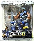 GI Joe Sigma 6 Ground Blast Heavy Duty 8' Commando Figure - Rare Canceled Blue Suit Variant with Firing Rocket Launcher