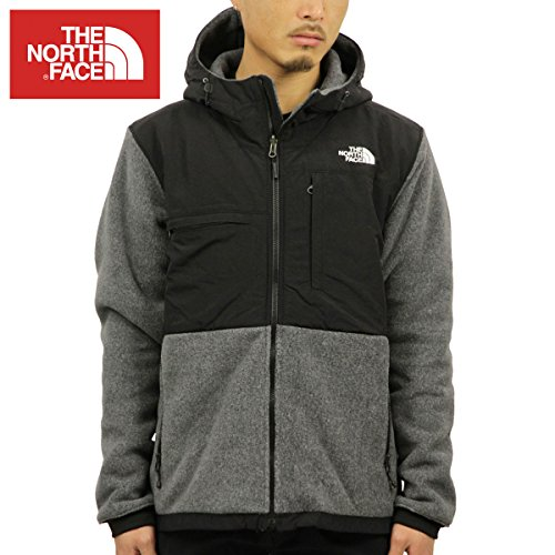 The North Face Denali 2 Hoodie Jacket - Men's Recycled Charcoal Grey Heather/TNF Black 2X-Large