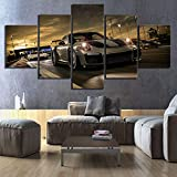 CANVANUK Peinture sur Toile 5 pièces Forza Vidéo de Sport motorisé Jeu Photos Mur Art Voiture de Sport de...