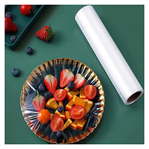 XYSQ 30cm De Ancho Envoltorios De Plástico para Alimentos Fundas para Alimentos, Tapas para Tazones De Envoltura De Film Transparente para Las Sobras Y La Preparación De Comidas