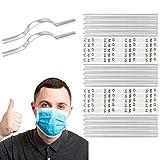 [25 PACCHETTO] Clip nasale incollata, adesivo tessile speciale, 90 x 5 x 0,8 mm, pezzo di alluminio autosigillante da incollare, per maschere respiratorie fai-da-te, maschera con filo per naso, naso