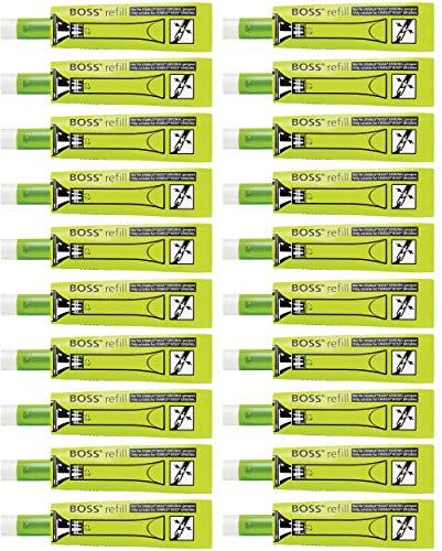 Recambio de tinta para STABILO BOSS ORIGINAL - Caja con 20 unidades color verde