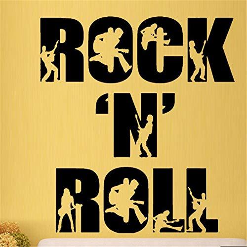 Tianpengyuanshuai muziek rok cool gitaar muursticker kunst vinyl woonkamer decoratie muursticker jeugdherbergen