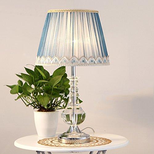 CCLLtyt Romantic Fashion in American Pastoral Bedroom Lampada da Comodino Lampada in Cristallo Reading Lamp (Color : A)