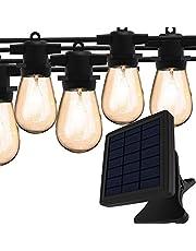Magictec Solar String Lights, LED S14 Solar String Light Outdoor Waterdichte Verlichting Decoratie Energiebesparend Opknoping Decor voor Tuin, Balkon, Veranda, Achtertuin of Kamp Tent 8,2 m