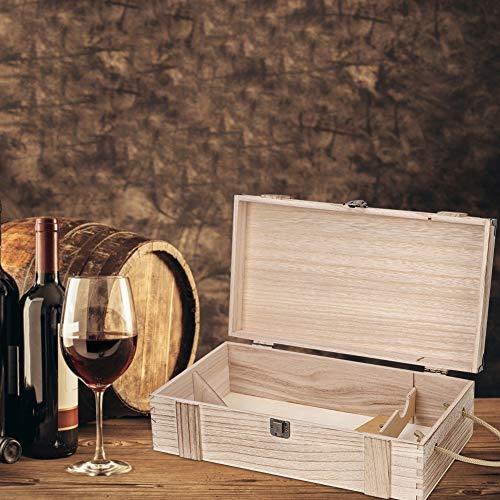 Elegante Rojo Vino Caja, Vino Caja 35 X 20 X 10cm Decorativo De Madera Almacenamiento Natural Madera Hecho(Rojo)
