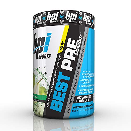 BPI Sports Ketogenic Pre-Workout Supplement - Best Pre-Workout - Carb-Free - Burns Fat for Energy - Helps Preserve Lean Muscle Mass - Improved Focus - Apple Pear - 30 Servings - 11.11 oz.