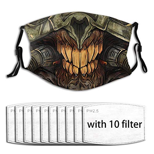 Jasongamo Immortan Joe Face Mask Reusable Activated Carbon Covering with Washable Adjustable for Men Women