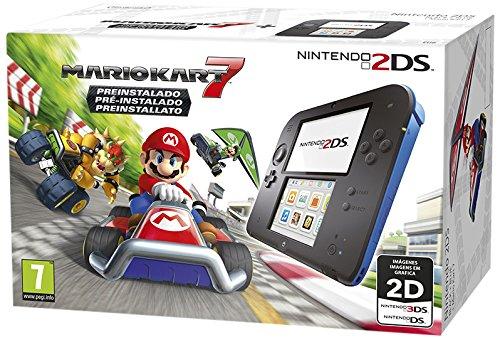 Nintendo 2DS Nero/Blu + Mario Kart 7 Preinstallato [Bundle] [Importación Italiana]