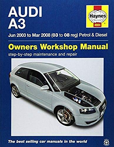 Audi A3 Petrol & Diesel (Jun 03 - Mar 08) Haynes Repair Manual