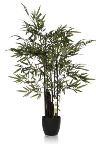 Artif-Deco–Zen bambú Artificial 5cañas negras 180cm 1600hojas–choisissez la talla: 180cm y 1600hojas