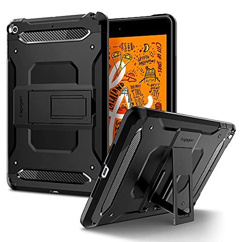 Spigen iPad mini5 ケース カバー 衝撃吸収 耐衝撃 スタンド 米軍MIL規格取得 アイパッド ミニ5 シュピゲン タフ・アーマー テック 051CS26114 (ブラック)