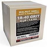 4 lbs or 1.8 kg Ground Walnut Shell Media 18-40 Grit - Fine Walnut Shells for Tumbling, Vibratory Or Blasting