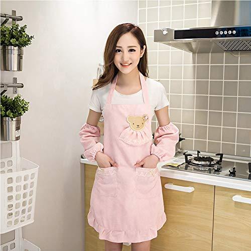 GWF Carino Principessa Moda Velluto tegen kost schort waterdicht keuken olie keuken taille manicure slijtage voor volwassenen jurk lange mouwen