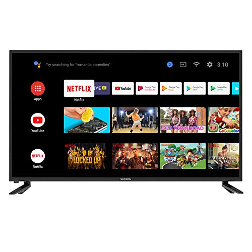 Skyworth 42S3G Inch Premium 1080P HD LED Television Quad-CORE Android TV Smart with Voice Control, Google Assistant, Chromecast, Smart TV, Android TV
