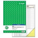 SIGEL KG429 Kassenbuch EDV, Steuerschiene 300, A4, 2x50 Blatt