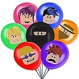 Roblox Artículos de Fiestas para Fanáticos de los Videojuegos Decoraciones para Cumpleaños de Tema de Videojuegos con Globos
