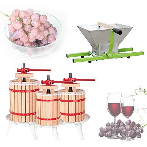 Hengda Obstmühle 7L Obstpresse 6L Fruchtpresse Weinpresse Saftpresse Maischepresse Obstmühle