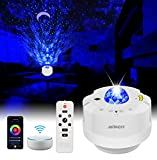 Galaxy Projector Star Projector Night Light Projector for Bedroom, LED Starry Moon Ocean Wave Projector with Remote Control for Teen Room Decor/Game Rooms/Party Light/Birthday Gifts/Home Theatre