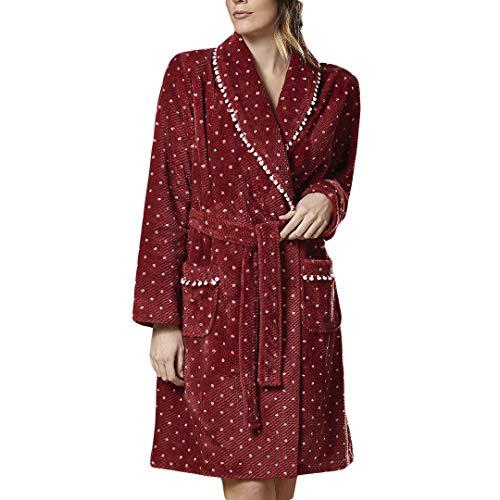 ARABESCO 5313-90696-GRANATE-XL - Bata Mujer CORALINA Mujer Color: Granate Talla: x-Large