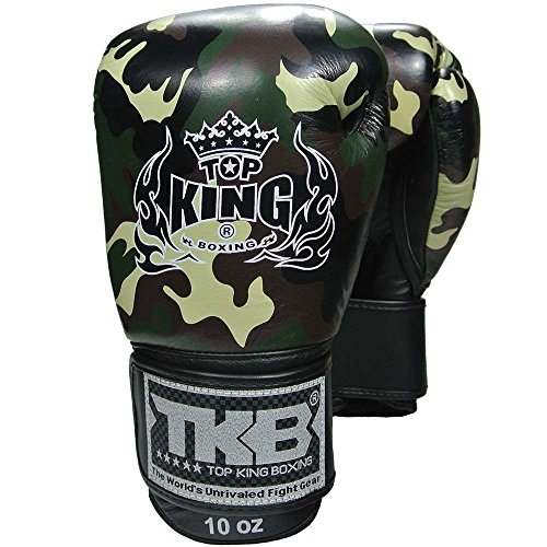 Top King Boxhandschuhe, Empower, camo Jungle, Boxing Gloves, Leather, Leder, MMA Size 10 Oz