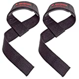 Harbinger Padded Cotton Lifting Straps with NeoTek Cushioned Wrist (Pair), Black , 5 mm