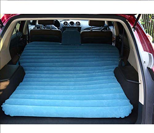 HEZHOUJI Suv Car Inflatable Mattress - Seat Travel Bed Air Mattress With Air Pump,Blue