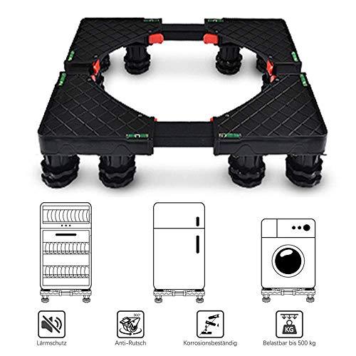 AGWa Haushalts Tray Weinschrank Unter, Waschmaschine Basis Roller bewegen Kühlschrank Bracket Gewicht 500Kg,Große 12 fi * ed Füße