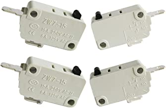 Twidec/4Pcs for DR52 16A 125/250V Universal Microwave Oven Door Micro Switch NC (Normally Close) ZW7-15-W/NC