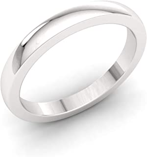 Diamondere Natural and Certified Wedding Ring in 950 Platinum | Platinum 2.00 MM Plain Band for Unisex Mens Women Size 4 to 9
