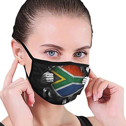 Mondbescherming Pull Apart Shirts Zuid-Amerikaanse vlag zwart winddicht Elastic Earloop wasbaar ademend werk gezichtsmasker warme monddekking unisex herve