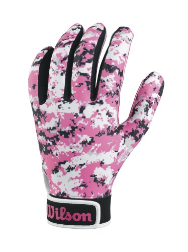 Wilson Adult Special Forces Receivers Gloves, Pink Camouflage, Large