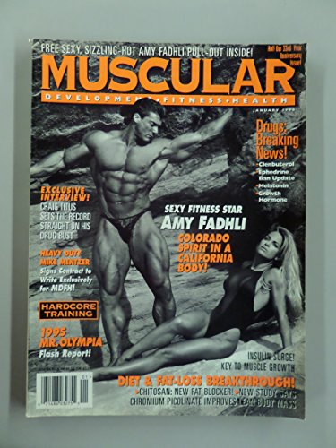 Muscular Development Magazine, January 1996, Vol. 33 No. 1 (Centerfold of Amy Fadhli; Body of the Month, Vol. 33 No. 1)