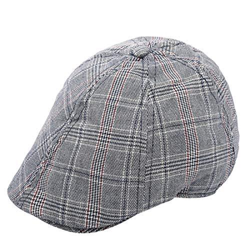 Foruhoo Kinder Schiebermütze für Jungen, Baby Baskenmütze Kapppe Hüte Cap (Grau, 54cm / 4-7 Jahre)