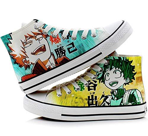Zapatos de Izuku Midoriya Zapatos de Anime Unisex Zapatos de Lona de Anime Zapatillas de Impresion con Personajes de Anime