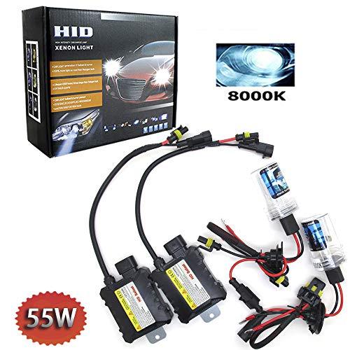 Boomboost HID Xenon-Brenner kit H1 Xenon-Licht Ballasts Entladungslampe Schlank HID Lampen Scheinwerfer Nachrüstsatz Set Schnellstart Ersatzlampen 12V 55W 8000K