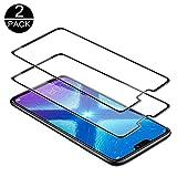TECHKUN Panzerglas Schutzfolie für Huawei Honor 8X, [2 Stück] Schutzfolie 9H Festigkeitgrad Glasfolie, Ultra-Klar Bildschirmschutzfolie für Huawei Honor 8X(Schwarz)