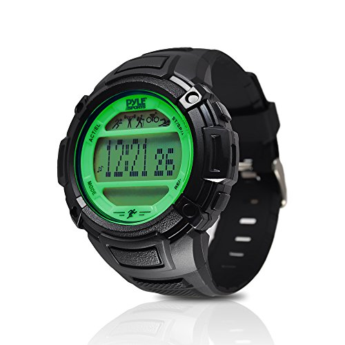 Digital Multifunction Sports Wrist Watch - Smart Fit Classic Men Women Sport Running Training Fitness Gear Tracker w/ Sleep Monitor, Pedometer, Alarm, Stopwatch, Backlight - Pyle PAST44GN (Green)
