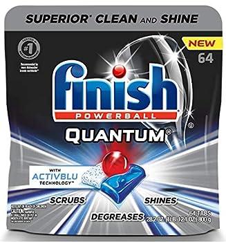 Finish - Quantum - 64ct - Dishwasher Detergent - Powerball - Ultimate Clean & Shine - Dishwashing Tablets - Dish Tabs