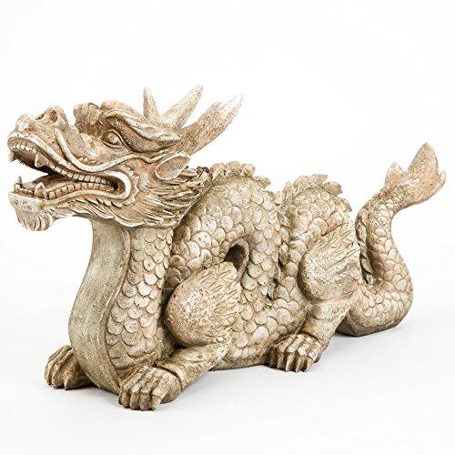 bits y Piezas–Rodrigo El Dragón Adorno de jardín Décor- Escultura para jardín,...