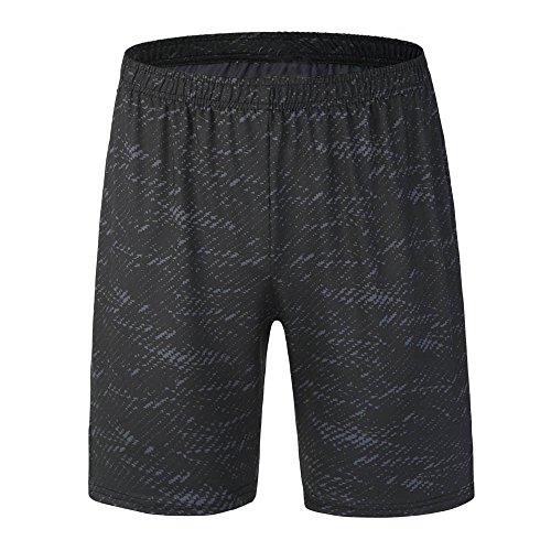 GreatestPAK Pants Yoga Athletic Herren Shorts Training Leggings Fitness Sport Gym Laufhose,Schwarz,2XL