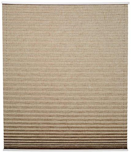 Home Fashion 94855-742 Estor Plisado Up and Down, Estructura de Lino, 130 x 40 cm, y Blanco