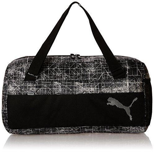 PUMA borsa sportiva fondamentals Sports Bag II, PUMA Black/PUMA White/DISTRESSED, 27,4 x 11,6 x 27 cm, 33 litri, 073757 10