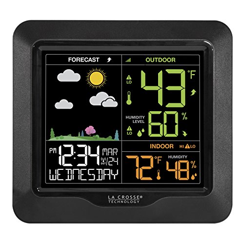 La Crosse Technology S85814 Wireless Color Forecast Station with Barometric Pressu