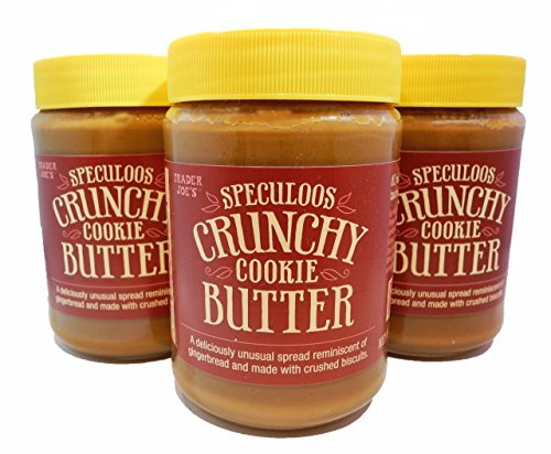Trader Joe's Speculoos Crunchy Cookie Butter,NET.WT.14.1oz(3 Jars)