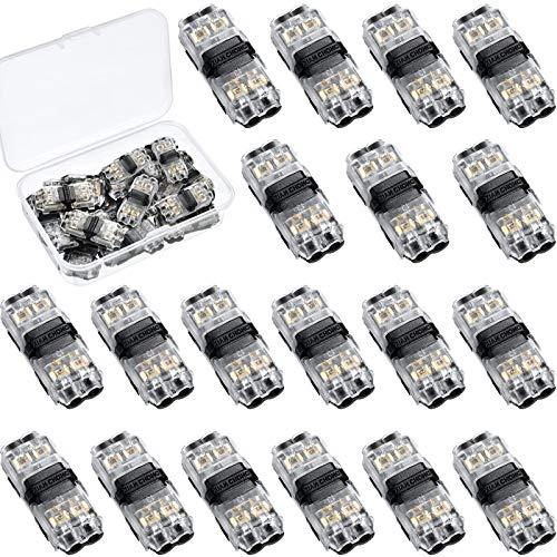 15 Conectores de Cable de Baja Tensión I Tap 2 Pines 2 Vías Universal Compacto Formo Terminales sin Necesidad de Pelar Cables Conector de Cable de Terminales Compactos sin Herramientas para 18-22 AWG