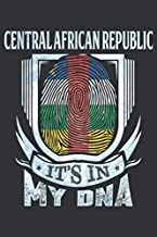Central African Republic It's In My DNA: Central African Thumbprint Flag Diary Planner Notebook Journal 6x9 Personalized Customized Gift For Patriotic ... And Roots From Central African Republic