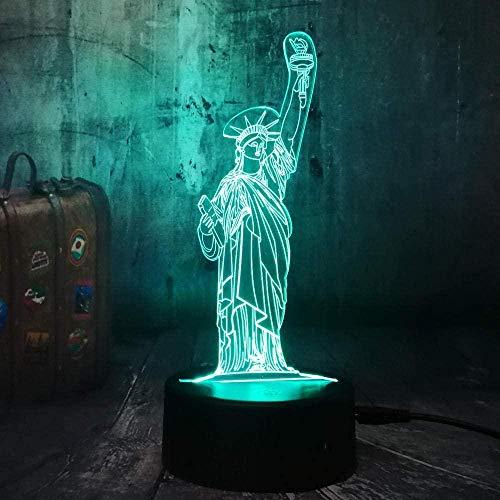 Freiheit 3D Nachtlicht Optische Illusion Lampe 20 Farbwechsel Mit Bluetooth Steuerung Und Smart Touch Tischlampe Deko Licht Stimmungslampe Besten Geschenke Für Kinder