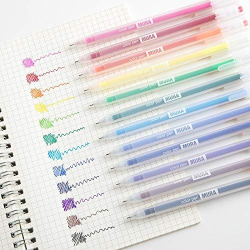 Gelpen, kleur 0,5 mm, aquarelstift, 12 kleuren, cadeau voor tellstift, hand